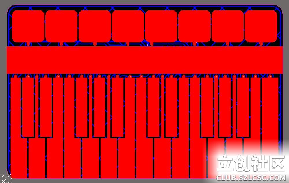 电子琴电路板正面TopLayer层